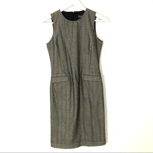 Banana republic wool/silk sleeveless sheath dress
